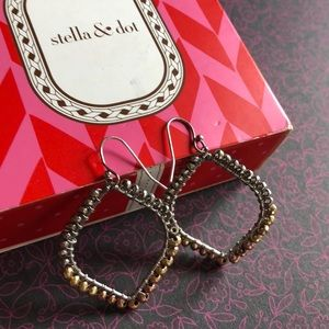 Stella & Dot silver and gold earrings